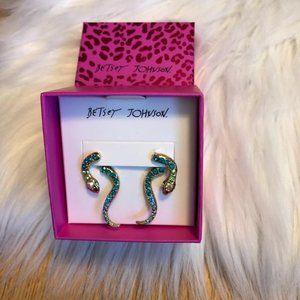 Betsey Johnson Crystal Snake Earrings